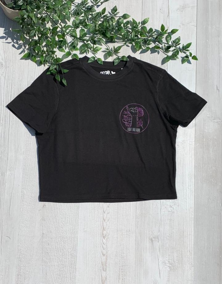 womxn up black t shirt