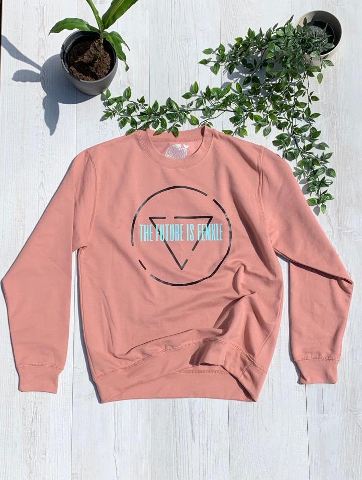 womxn up pink jumper